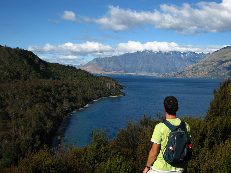 Looking back over Lake Wakatipu towards the Remarkables