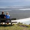 Doug & Amy, atop Mount Manganui