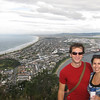 Andrew & Julie overlooking the town of Mount Manganui