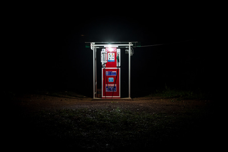 The loneliest petrol station