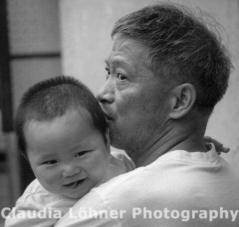 father and child; Shanghai, China