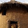 A typical corn crib in Burkina Faso.