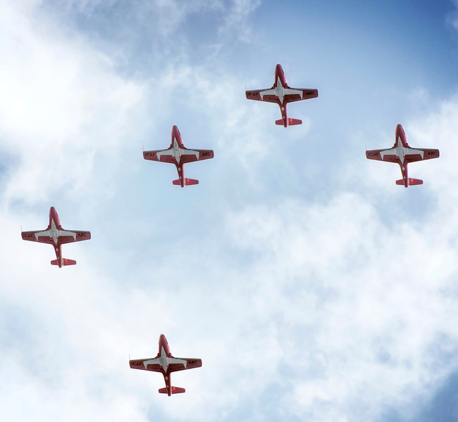 The Snowbirds at the Canadian International Airshow in Toronto on 1 September, 2013.