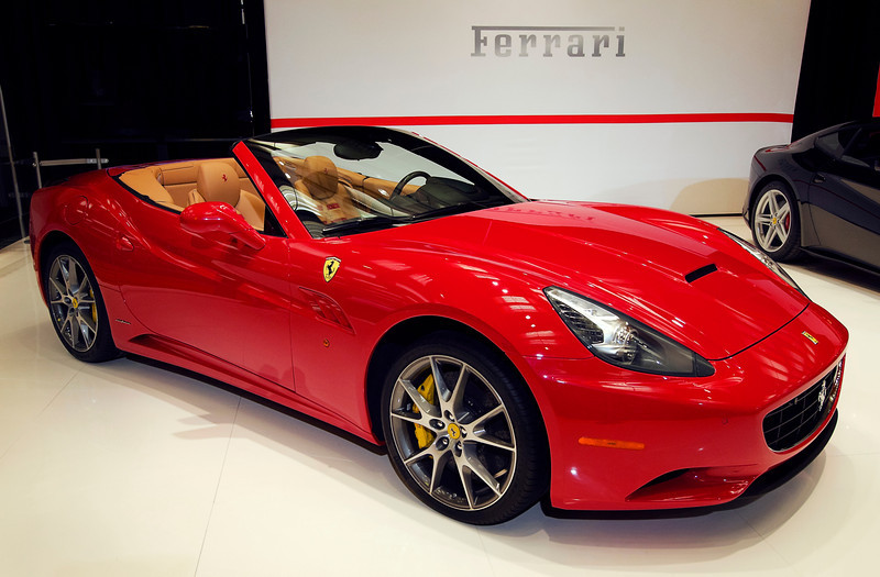 Ferrari California at the Toronto Auto Show. $200,000 base price. 16 February, 2013.