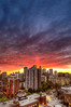 Sunset over Toronto. 15 May, 2013.