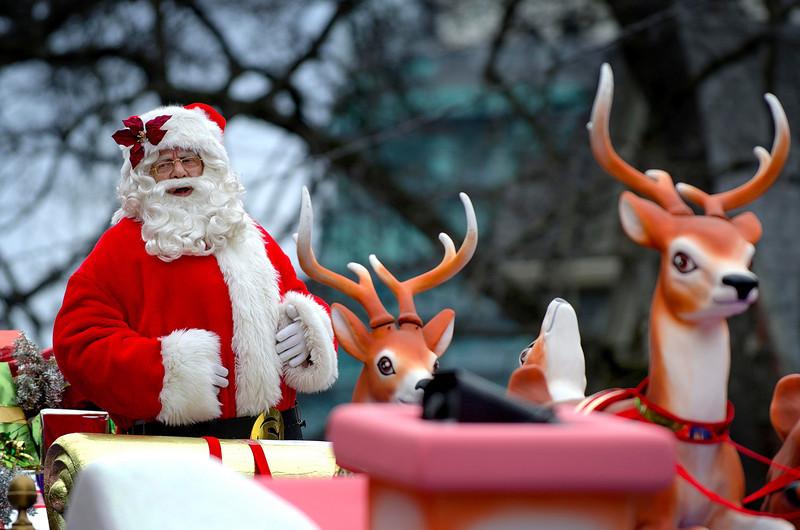At the Santa Claus Parade, 17 November, 2013.