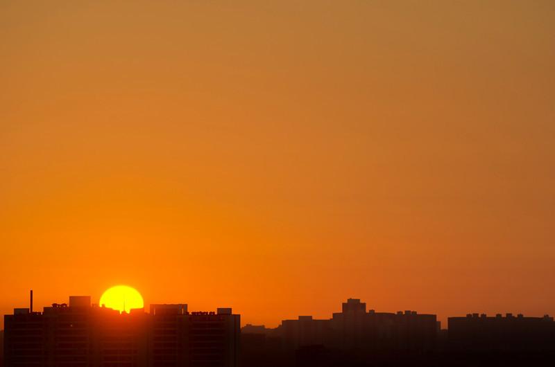 Sunrise Toronto, 14 July, 2013.