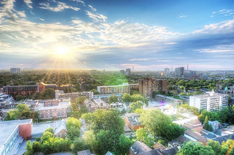 Sunrise over Toronto, 6 August, 2013.