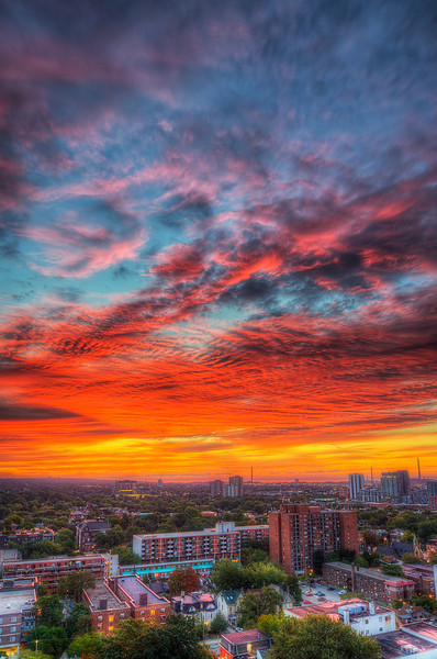 Good morning. This Toronto sunrise from September 15 rather than from today.