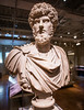 This is co-Emperor Lucius Verus. He ruled ancient Rome, with his adoptive brother Marcus Aurelius, from 161 to 169 AD when he died most likely of smallpox. It was a reasonably peaceful and prosperous time for Rome, the last period in which criticizing the Emperor was not a capital offence. At the Royal Ontario Museum in Toronto on 3 January, 2014.