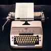 Typewriter from Stanley Kubrick's The Shining. Shot at Kubrick exhibition at TIFF Bell Lightbox in Toronto, 5 November 2014.