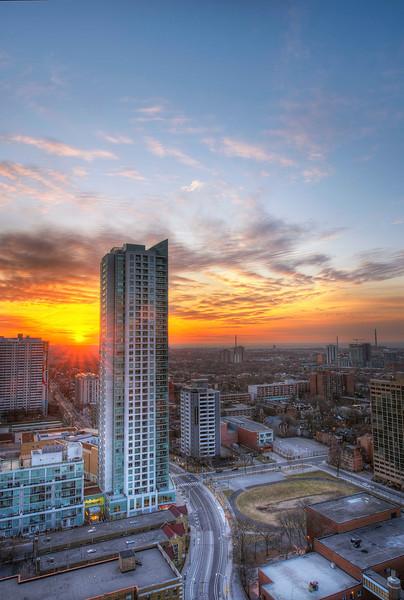 Sunrise Toronto. 7 April, 2014.
