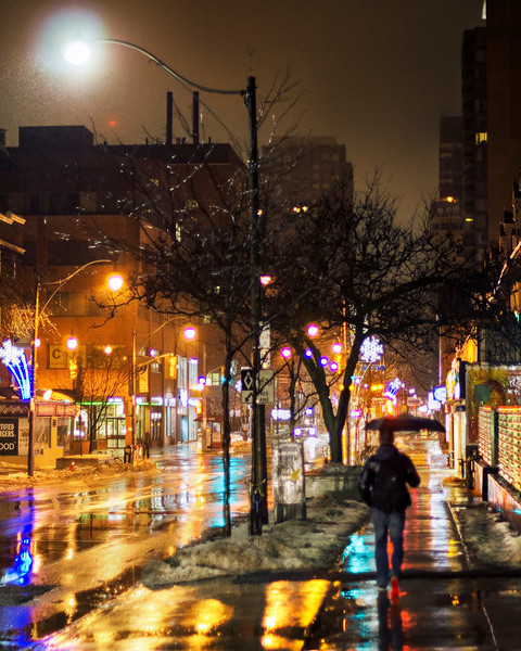 Wet Toronto morning. 21 February, 2014.