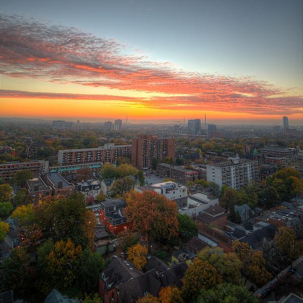 Sunrise over Toronto, 26 October, 2012.