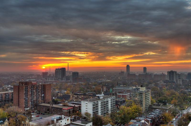 Sunrise in Toronto, 11 November 2012.