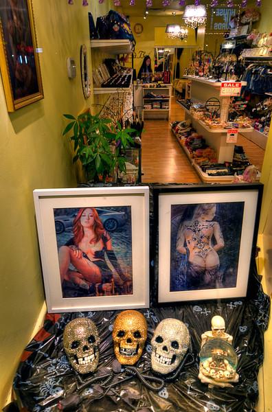 Strange things for sale along Yonge St in Toronto. 9 November, 2012.
