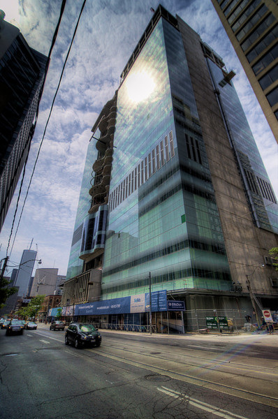 A new building coming along on Bay Street in Toronto, 22 May 2012.