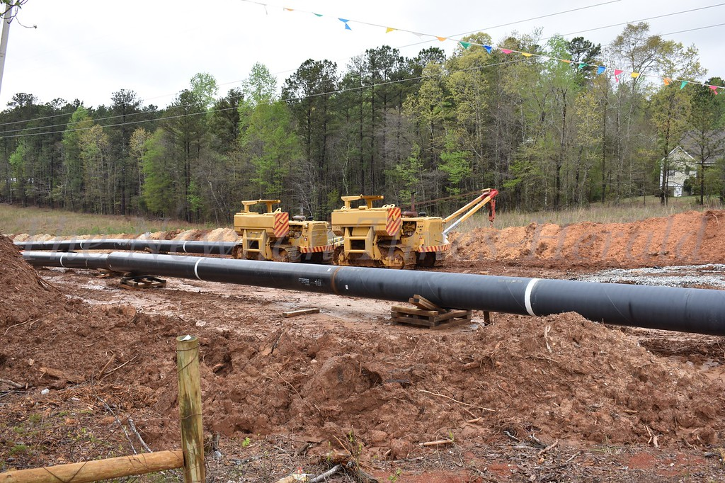 Gas pipeline under construction in Newnan