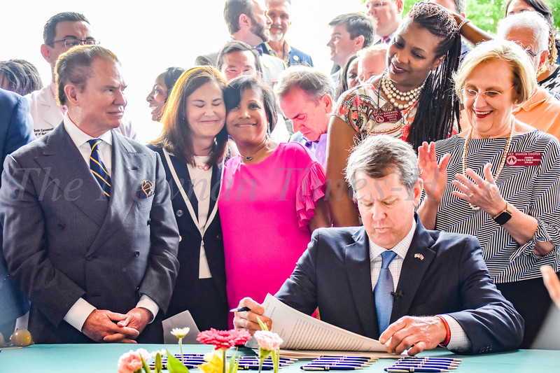 Gov. Brian Kemp signed House Bill 186 at CTCA