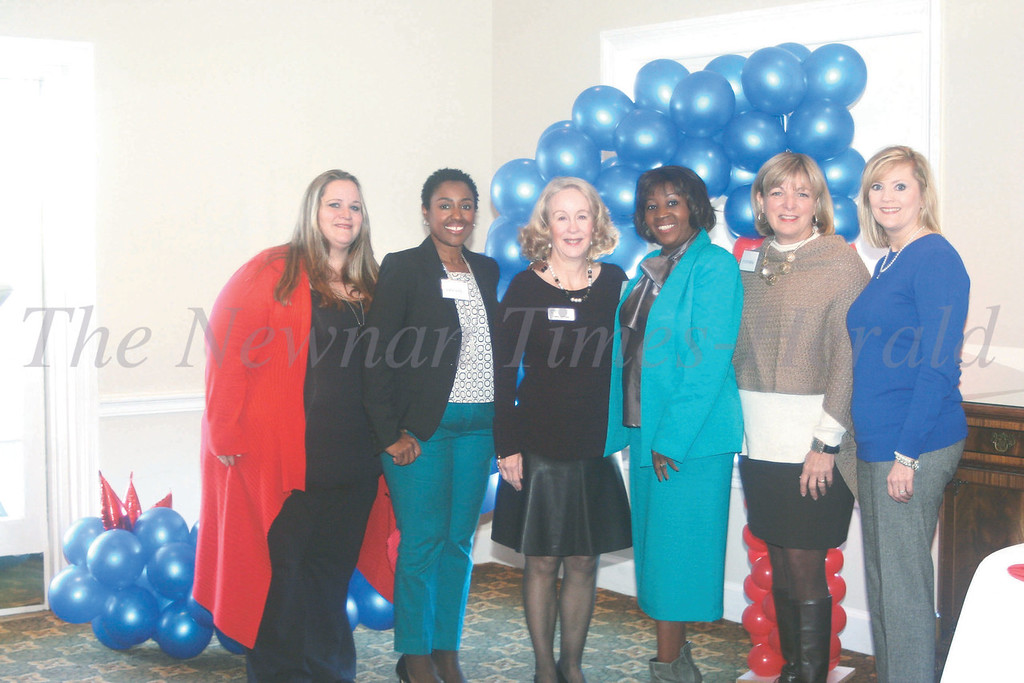 Left to right are Samantha Brazie, Tiffany Bello, Gwen Garrison, Dr. Blanche Wallace, Cynthia Bennett and Jenny Paul. These women serve on the mentor program planning committee and some serve as mentors as well.