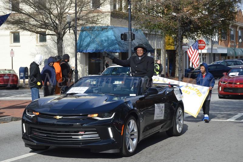 MLK Parade  2018, Winston Dowdell, Grand Marshall.