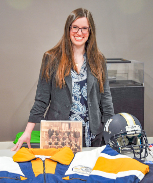 New NHS Football Exhibit at the McRitchie - Hollis Museum