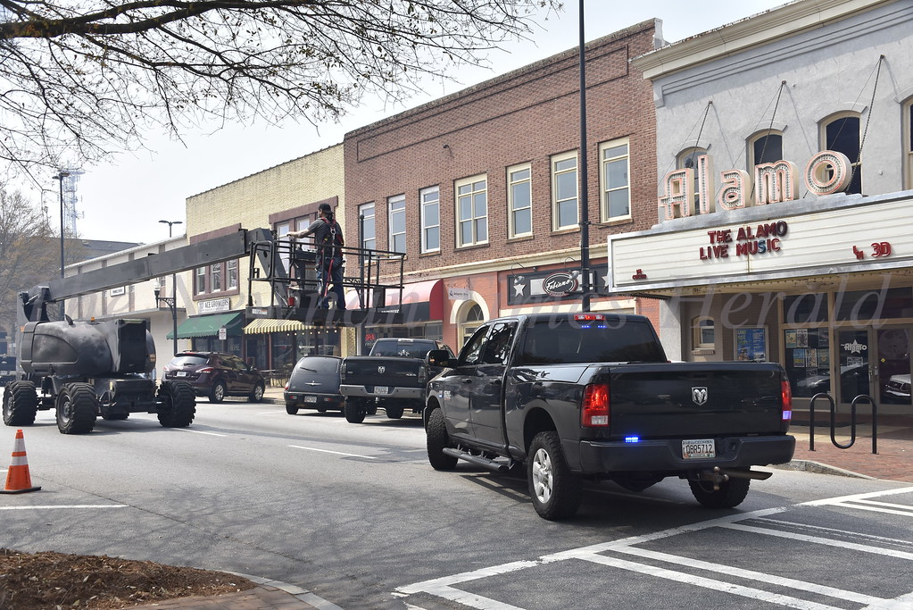Filming in Downtown Newnan