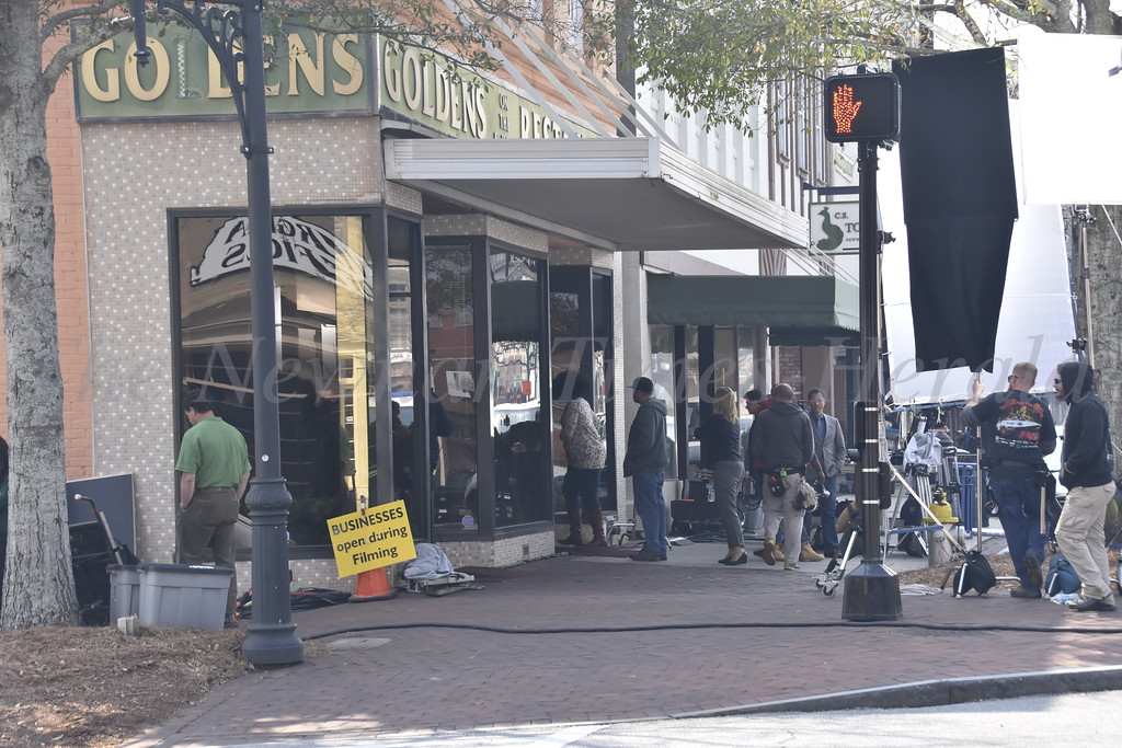 Filming in Downtown Newan