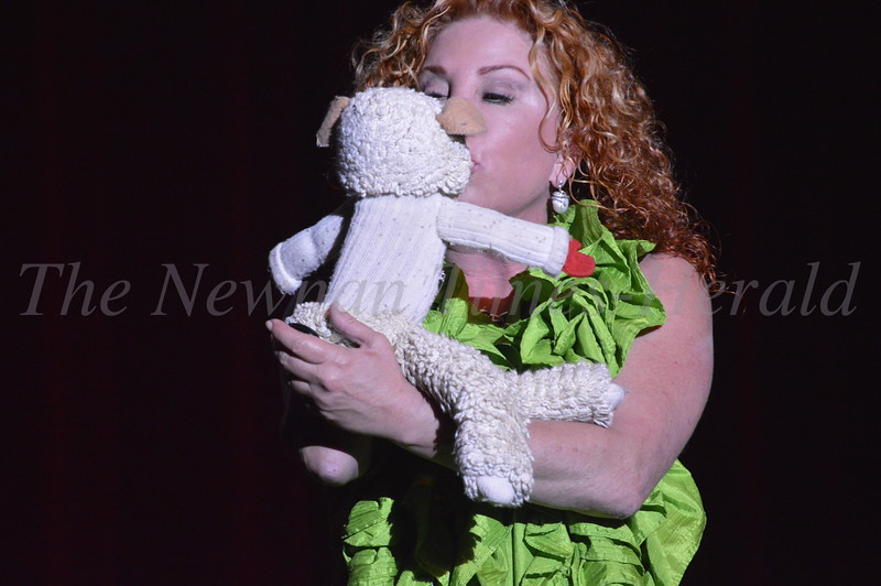 Mallory Lewis and Lamb Chop