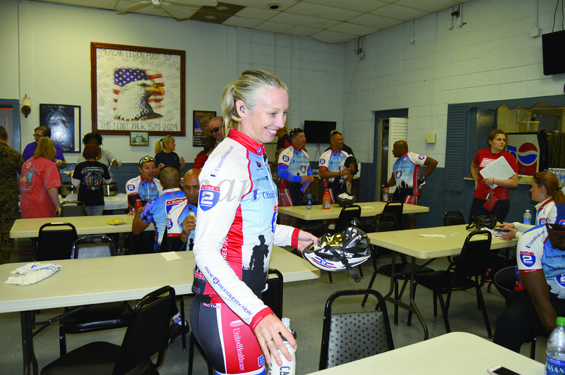 Ride 2 Recovery, a program created for veterans inspired by the healing effects of physical therapy, visited Newnan on a Challenge Ride from Atlanta, Ga. to New Orleans, La. Jen Goodbody is part of the group's Program Events Team.