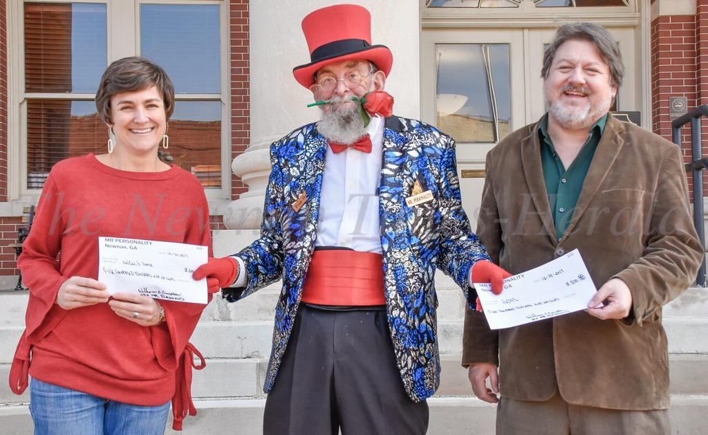 Mr. Personality - giving donations to Angel's House and NCHS
