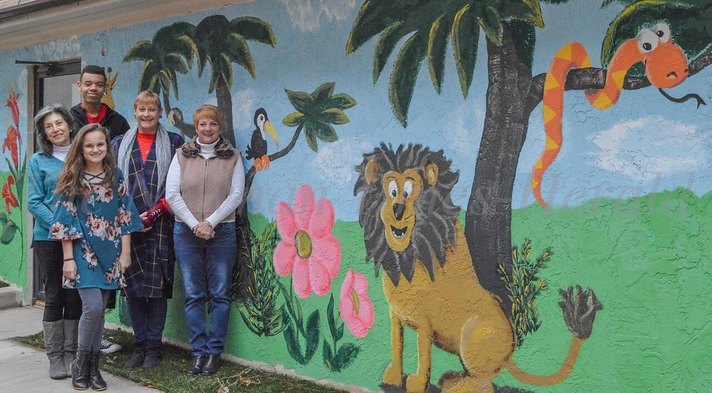 New Mural at Coweta DFCS playground