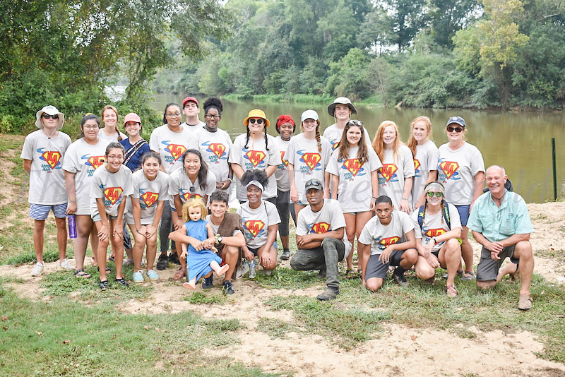 NHS students from Jobs for Georgia and Newnan Ambassadors helping to clean up the Chattahoochee River