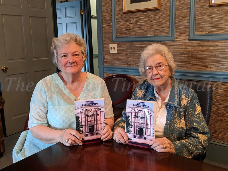 "Author Elizabeth Beers, and Carolyn Turner, who helped her put the book together, are proud of ""History With Elizabeth"".  The book grew from talks on local history that Beers gave at the Carnegie Library beginning almost 10 years ago."