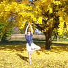 "Patti is inspired to strike the ""tree pose"" in honor of this stunning gingko."