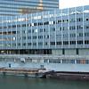 Barges carry away demolition debris