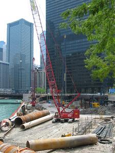 Construction site & IBM Building