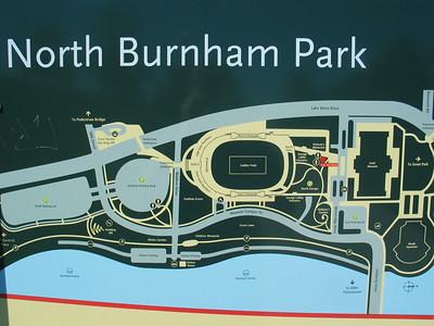 North Burnham Park map