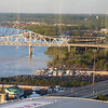 It's nice to see the Ohio River from this high vantage point - Jeane's office on the 25th floor of Waterfront Plaza.
