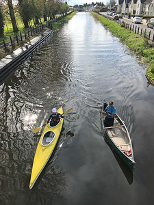 Training on the canal with Tullamore Canoe Club