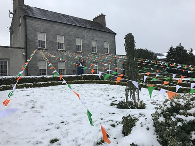Town hall decked out for St Patrick's Day