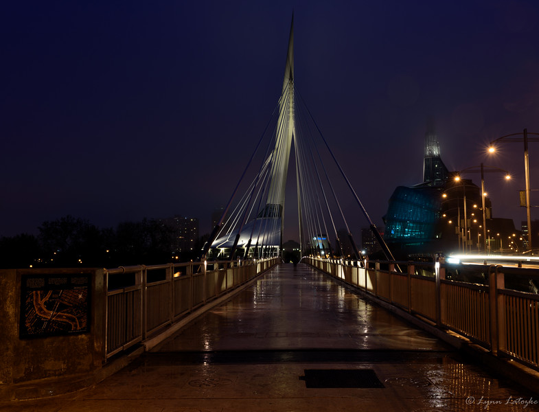 Esplanade Riel at night