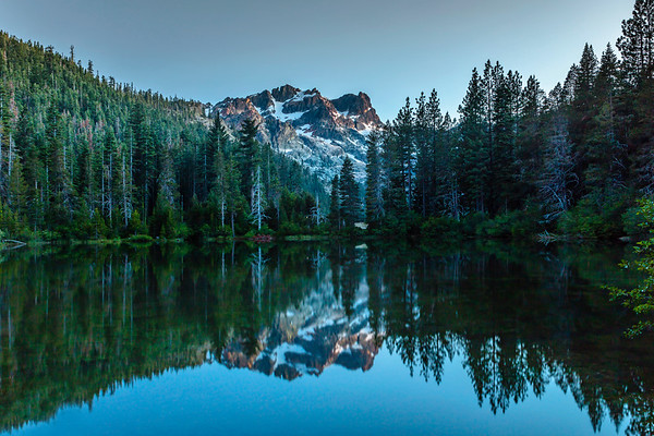 Sierra Buttes under moonlight
