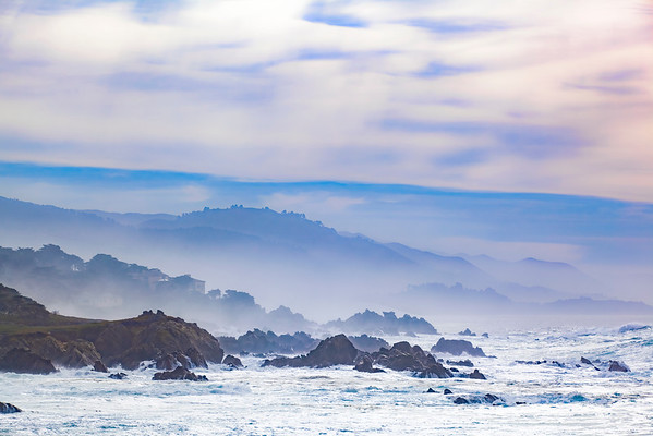 Late Morning at Cypress Point Lookout, 17 Mile Dive, Pebble Beach