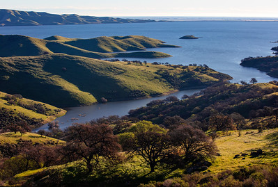 San Luis Reservoir on a winter morning
