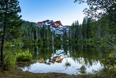 Sierra Buttes at Sunrise, view from Sand Pond