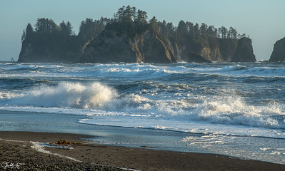 Sea Stacks and Surf, Second Beach