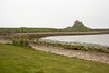 Lindisfarne castle (National Trust) seen from the harbour side.