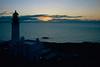 Rua Reidh Lighthouse at sunset.
