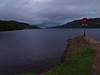 Looking down Loch Ness from Fort Augustus moorings.